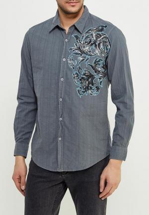 Рубашка Affliction VINLAND L/S WOVEN. Цвет: серый