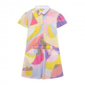 Хлопковое платье Emilio Pucci. Цвет: жёлтый