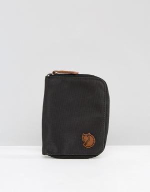 Темно-серый кошелек на молнии Fjallraven. Цвет: серый