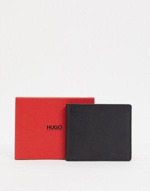 Черный кожаный бумажник Subway-Черный цвет HUGO