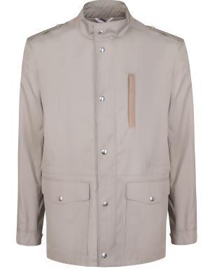 Шерстяная куртка-парка BILANCIONI. Цвет: серый