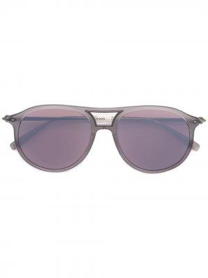 Солнцезащитные очки авиаторы Matsuda. Цвет: серый