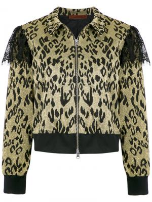 Leopard glitter jacket À La Garçonne. Цвет: нейтральные цвета