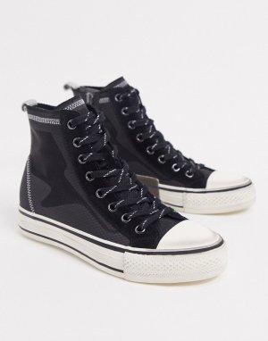 Черно-серые высокие кроссовки -Черный Ash