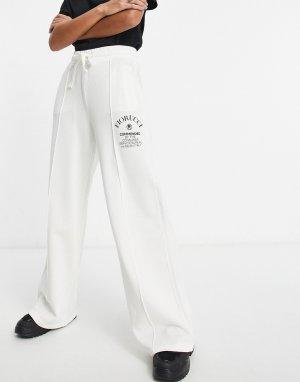 Белые широкие спортивные брюки с логотипом от комплекта Commended-Белый Fiorucci