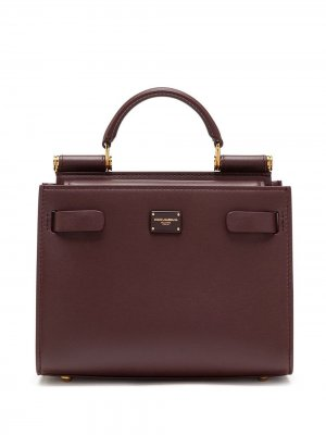 Большая сумка-тоут Sicily 62 Dolce & Gabbana. Цвет: фиолетовый