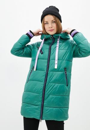 Куртка утепленная Allegri. Цвет: зеленый