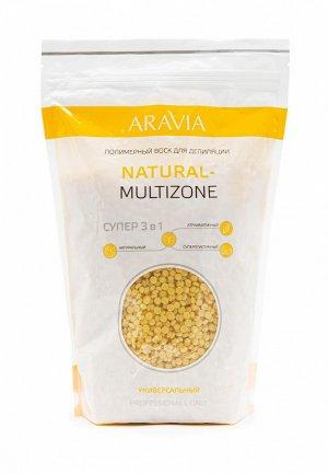 Воск для депиляции Aravia Professional полимерный NATURAL-MULTIZONE универсальный,1000 г. Цвет: желтый