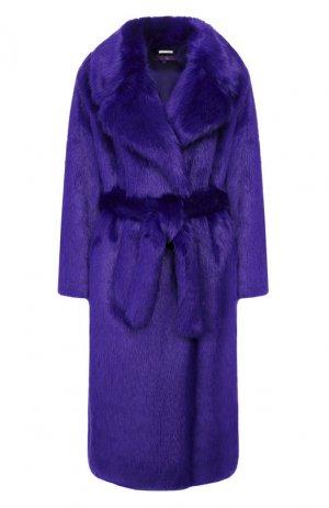 Шуба из экомеха Ralph Lauren. Цвет: фиолетовый