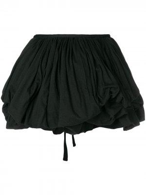 Объемная мини юбка Ann Demeulemeester. Цвет: черный