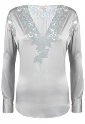 Блуза ERMANNO SCERVINO. Цвет: белый