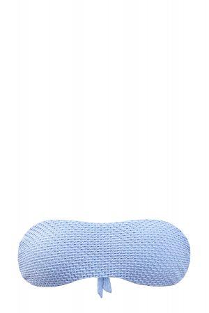 Голубой лиф-бандо из двухслойного эластичного трикотажа с фактурным декором FISICO. Цвет: голубой