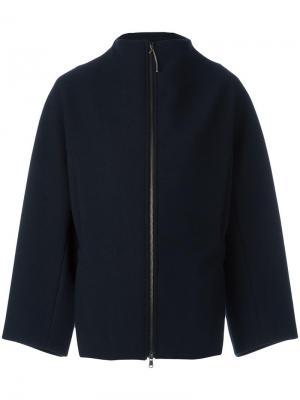 Пальто на молнии Ilaria Nistri. Цвет: синий