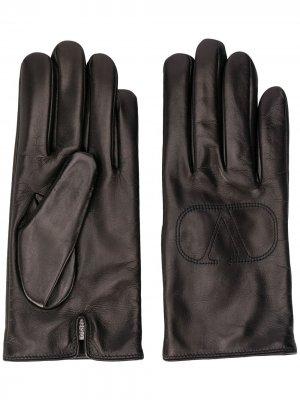 Перчатки с логотипом VLogo Valentino Garavani. Цвет: черный