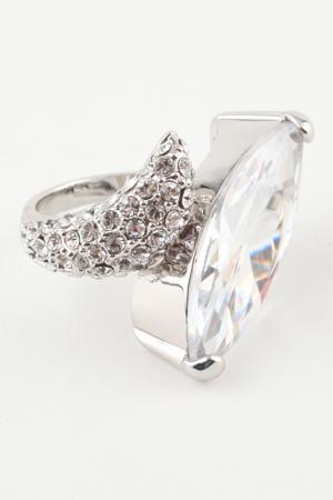 Кольцо Slava Zaitsev. Цвет: серебро, белый хрусталь