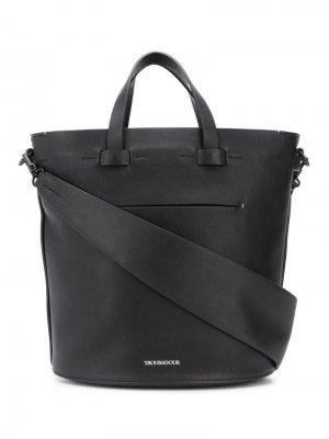 Овальная сумка Contour Troubadour. Цвет: черный