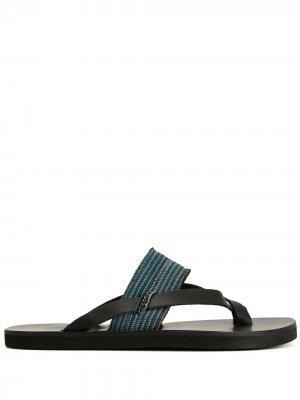 Сандалии Zinon Ancient Greek Sandals. Цвет: черный