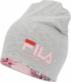Шапка для девочек , размер 54 FILA. Цвет: серый
