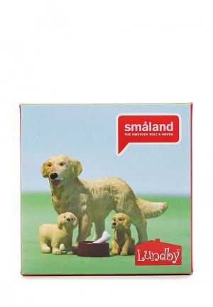 Набор игровой Lundby Пес семьи со щенками. Цвет: разноцветный