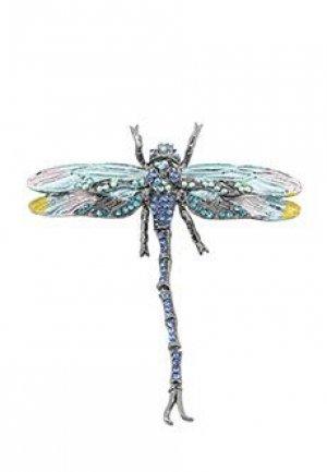 Брошь VIA TORRIANI 88. Цвет: голубой