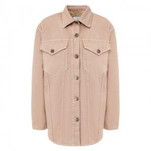 Джинсовая куртка Nanushka. Цвет: бежевый