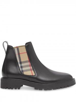 Ботинки челси в клетку Vintage Check Burberry. Цвет: черный