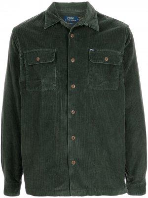 Вельветовая куртка-рубашка Polo Ralph Lauren. Цвет: зеленый