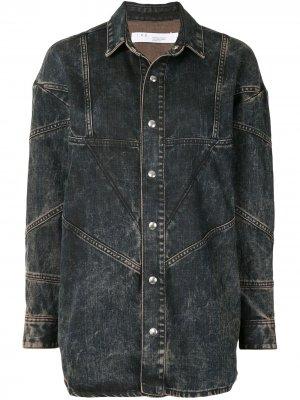 Джинсовая куртка с эффектом потертости IRO. Цвет: синий