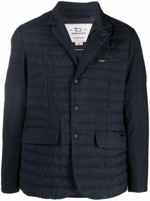 Стеганый пиджак Woolrich. Цвет: синий