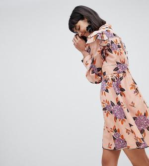 Платье мини Anna Sui. Цвет: мульти