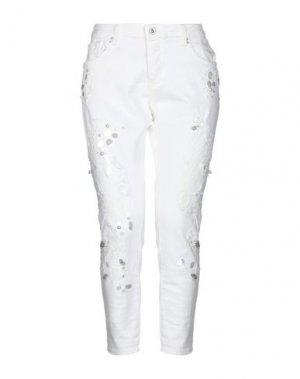 Джинсовые брюки-капри FRACOMINA. Цвет: белый