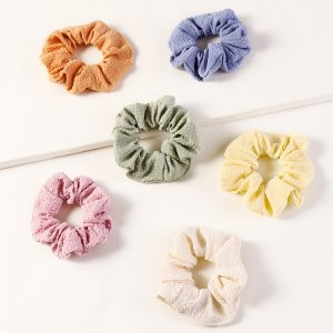 Простая эластичная резинка для волос 6шт SHEIN. Цвет: многоцветный