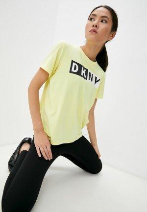 Футболка DKNY SPORT. Цвет: желтый