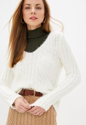 Пуловер Marks & Spencer. Цвет: белый