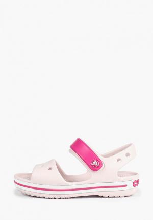 Сандалии Crocs Crocband Sandal Kids. Цвет: розовый