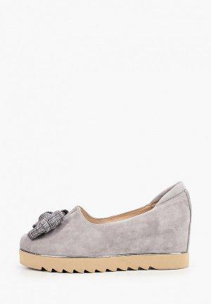 Туфли Balex с увеличенной полнотой. Цвет: серый