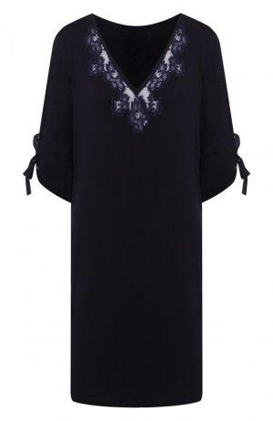Сорочка из вискозы La Perla. Цвет: синий