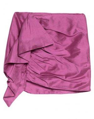 Мини-юбка ALEXANDR ROGOV. Цвет: фиолетовый