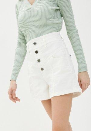 Шорты джинсовые UNQ. Цвет: белый