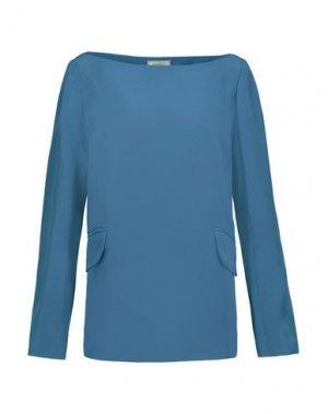 Блузка NINA RICCI. Цвет: пастельно-синий