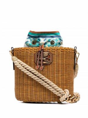 Сумка-ведро Pegaso с пряжкой Etro. Цвет: коричневый
