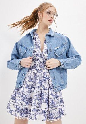 Куртка джинсовая Forte Dei Marmi Couture. Цвет: голубой