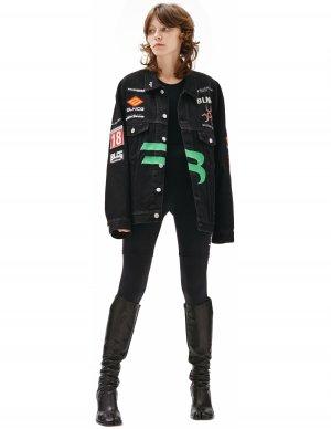Джинсовая куртка Gamer с патчами Balenciaga
