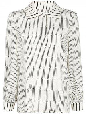Блузка на пуговицах с объемными рукавами Arias. Цвет: белый