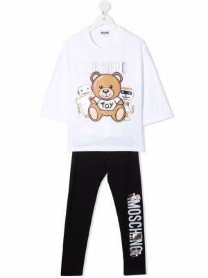 Teddy Bear motif tracksuit Moschino Kids. Цвет: белый