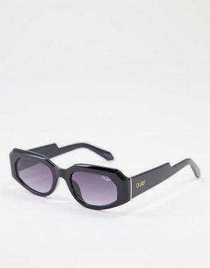 Черные солнцезащитные очки унисекс в стиле ретро с тонированными линзами Quay X Maluma No Sleep-Черный цвет Australia