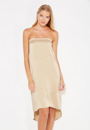Платье Sacks Sack's. Цвет: бежевый