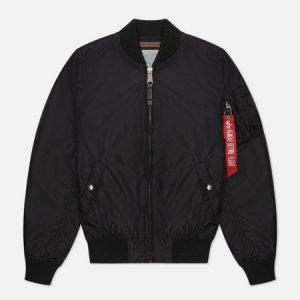 Женская куртка бомбер MA-1 TT Alpha Industries. Цвет: чёрный