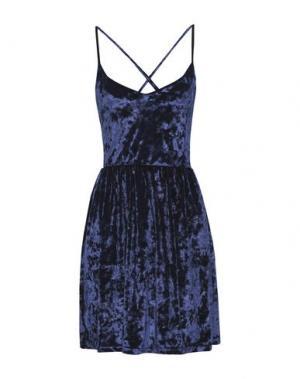 Короткое платье GEORGE J. LOVE. Цвет: синий