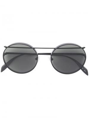 Солнцезащитные очки в круглой оправе Alexander McQueen Eyewea. Цвет: черный